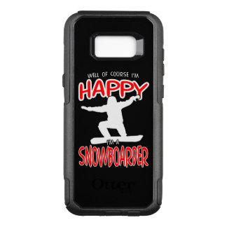 HAPPY SNOWBOARDER in WHITE OtterBox Commuter Samsung Galaxy S8+ Case