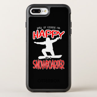 HAPPY SNOWBOARDER in WHITE OtterBox Symmetry iPhone 7 Plus Case