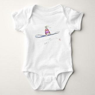 Happy Snowboarding Birthday Baby Bodysuit