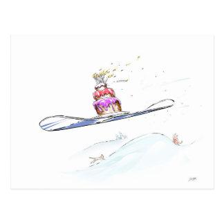 Happy Snowboarding Birthday Postcard