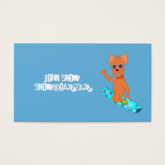 Happy Snowboarding by The Happy Juul Company Business Card