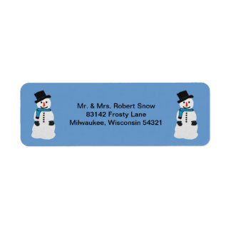 Happy Snowman Address Labels