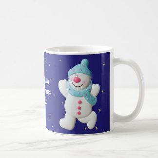 Happy Snowman boys name christmas mug, gift