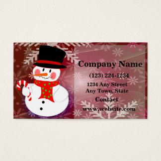 Happy Snowman Business Card
