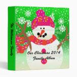 Happy Snowman Christmas Holiday Binder