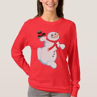 Happy Snowman Christmas T-Shirt