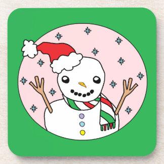 Happy Snowman Drink Coasters