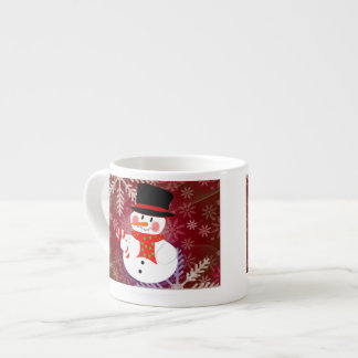 Happy Snowman Espresso Mug
