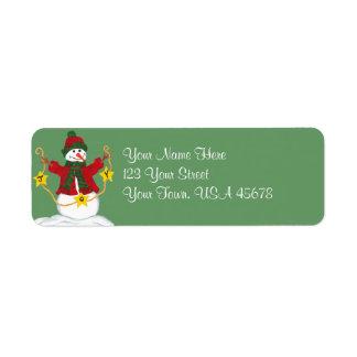 Happy Snowman full of JOY - Address Label