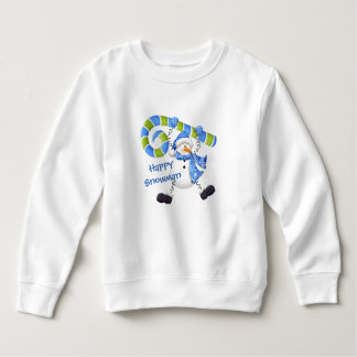 Happy Snowman Green and Blue Toddler Sweatshirt