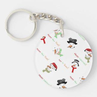 Happy Snowman Keychain