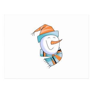 Happy Snowman Postcard