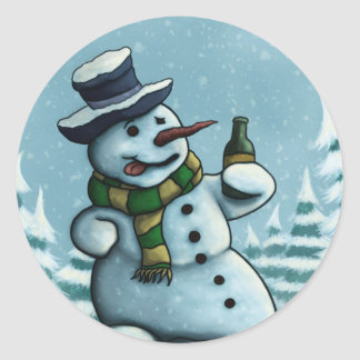 happy snowman sticker