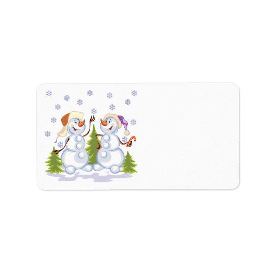 Happy Snowmen Avery Label