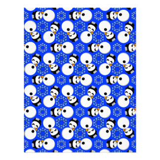 Happy Snowmen Redux Lg Any Color Scrapbook Paper Personalized Letterhead