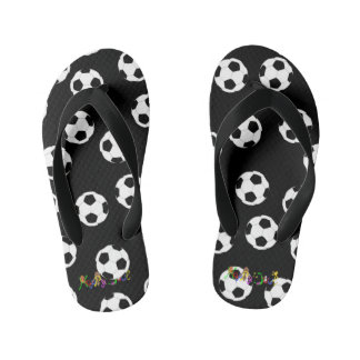Happy Soccer by The Happy Juul Company Kid's Flip Flops