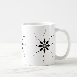 Happy Sperm fertilization. Black and white Coffee Mug
