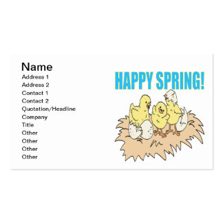 Happy Spring 2 Pack Of Standard Business Cards