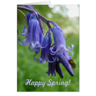 """Happy Spring! """"Bluebells in England"""" Card"""