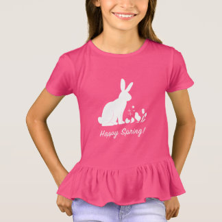 Happy Spring: Bunny, Chick and Tulips T-Shirt