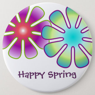 Happy Spring button
