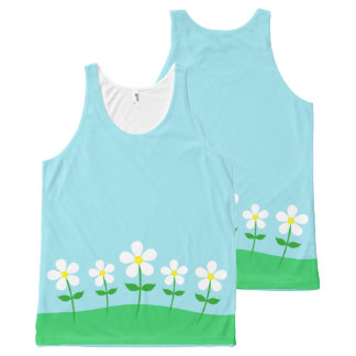 Happy Spring Daisies All-Over-Print Tank Top