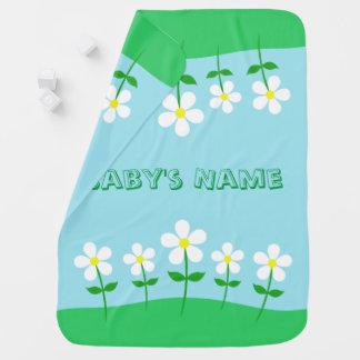 Happy Spring Daisies Baby Blanket