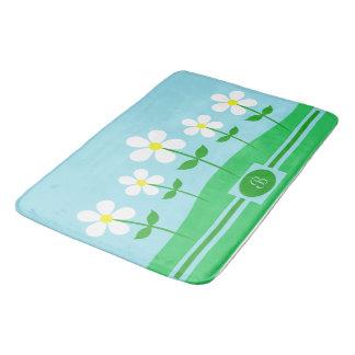 Happy Spring Daisies Bathroom Mat
