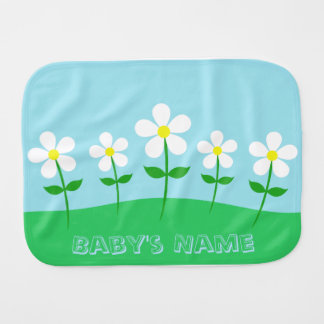 Happy Spring Daisies Burp Cloth