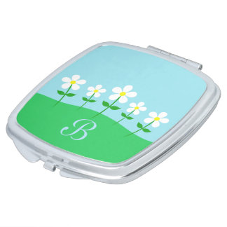 Happy Spring Daisies Makeup Mirror