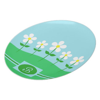 Happy Spring Daisies Party Plate