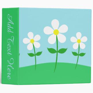 Happy Spring Daisies Vinyl Binders