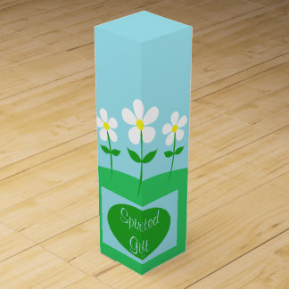 Happy Spring Daisies Wine Gift Box
