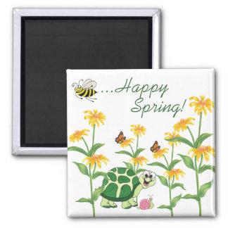 Happy Spring - Fridge Magnet