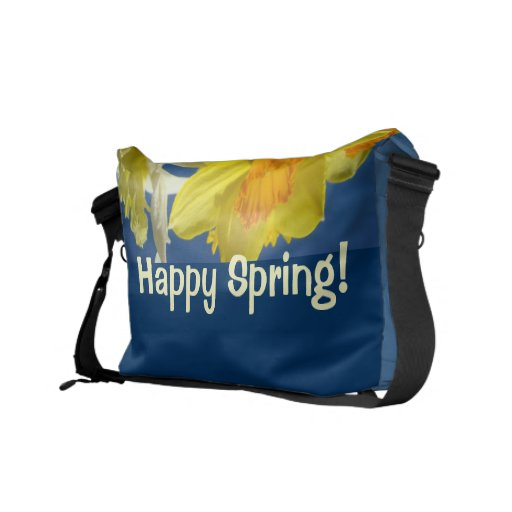 Happy Spring! Messengerbags custom Blue Daffodils Messenger Bags