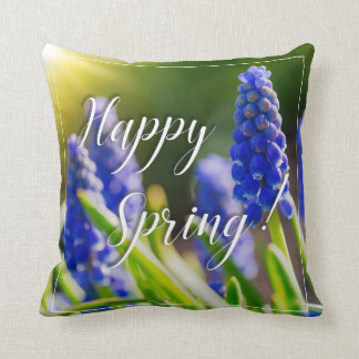 Happy Spring! Quote Pillow