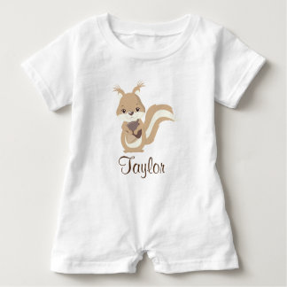 Happy Squirrel Personalize Baby Romper