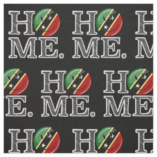 Happy St. Kitts Flag House Warmer Fabric