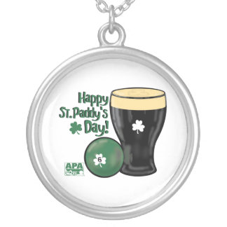 Happy St. Paddy's Day Silver Plated Necklace