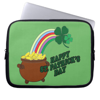Happy St Patrick s Day 1 Laptop Sleeve