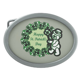 Happy St Patrick s Day Belt Buckle