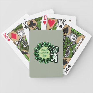 Happy St Patrick s Day Bicycle Playing Cards
