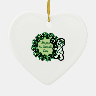 Happy St Patrick s Day Ceramic Ornament
