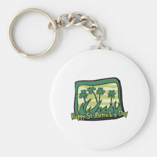 Happy St Patrick s Day Clovers Key Chains