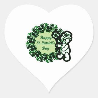 Happy St Patrick s Day Heart Sticker