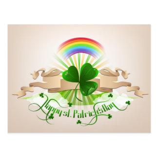 Happy st Patrick's Day postcard design