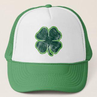 Happy St. Patrick's Day Shamrock Grunge Hat