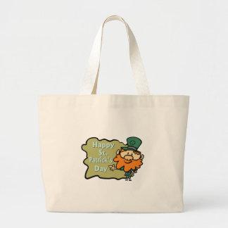 Happy St Patrick s Leprechaun Canvas Bag