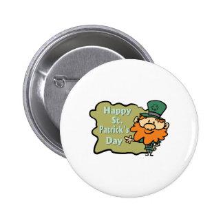 Happy St Patrick s Leprechaun Buttons