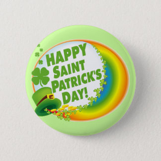 Happy St. Patrick's Day! 2 Inch Round Button
